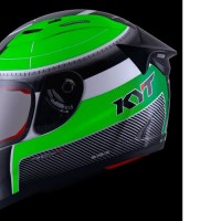 HELM FULLFACE ORIGINAL KYT SOLID RC SEVEN WHITE GREEN BLACK