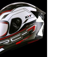 HELM FULLFACE ORIGINAL KYT MOTIF RC SEVEN BLACK WHITE RED