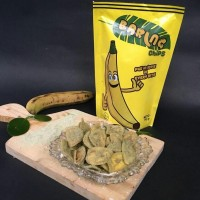 Baring Chips Green Tea Milk 140gr, keripik pisang Sukabumi