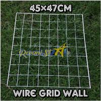 wire grid wall 45x47cm kawat ram pajangan foto notes dekorasi kamar