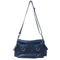 [L] Sling bag wanita kulit sapi asli shoulder selempang dongker navy