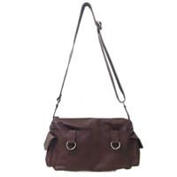 [L] Selempang wanita kulit sapi asli coklat sling bag ori leather