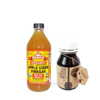 BRAGG Apple Cider Vinegar 473 Ml + Honey Life Raw Wild Forest - 250 Ml