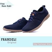 Sepatu Pria Casual Loafers Kuliah Kerja Slip on Formal Frandeli Line