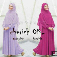 Baju gamis wanita dress muslim Cherish oki ori ep