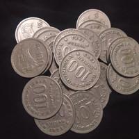 UANG KUNO UANG MAHAR KOIN 100 RUPIAH TEBAL 1973