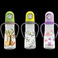 Baby safe feeding bottle with handle 250ml/botol susu baby safe