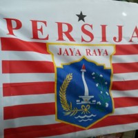 Bendera Sepak Bola Jakarta Persija Ukuran Kecil