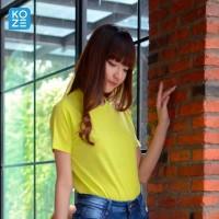 Kaos Polos Koze Combed 30 s ( Premium Comfort Neon Yellow )