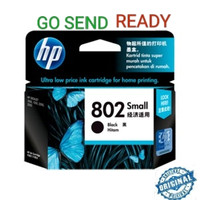 HP 802 SMALL ORIGINAL Black Ink Catridge Hitam kecil printer 1510 2050