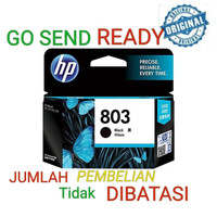 HP 803 ORIGINAL Black ink Catridge tinta hitam 1111 1112 2131 2132