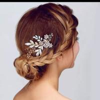 SIRKAM TIARA RAMBUT BRIDE AKSESORIS PERNIKAHAN HAIR BRIDAL WEDDING