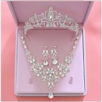 perhiasan set kalung mahkota aksesoris pesta pengantin