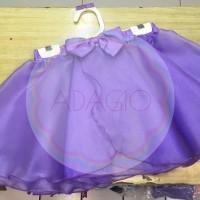 Rok Balet Kain Kaca Organdi Sifon Ungu/ Wrapskirt Ballet Anak