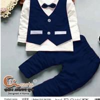 biru tua dongker navy merah setelan baju anak anak laki pesta vest
