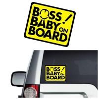 Stiker Mobil Unik Lucu Cutting Sticker Boss Baby On Board