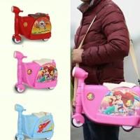 terbaru/ BP045 Koper Anak Bentuk Scooter Ekonomis Luggage Trolley Tas