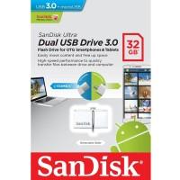 Sandisk Flashdisk OTG Ultra Dual USB Drive 3.0 32GB - Putih