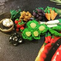Miniatur clay set sayur