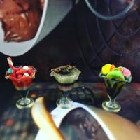 Miniatur clay set ice cream
