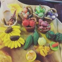 Miniatur clay set buah