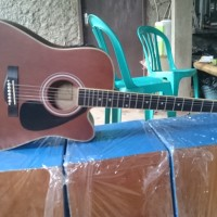 gitar akustik Cort elektrik coklat Doff