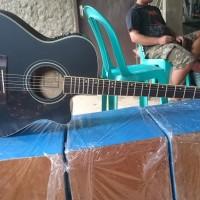 gitar akustik elektrik hitam Doff Cort