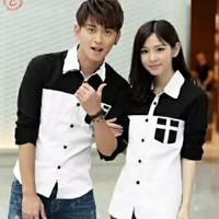 Kemeja Couple England Koreanstyle