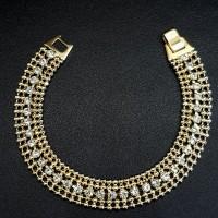 Gelang Rantai Simple Chain Bracelet Flower - Gold