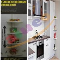 Kitchenware And Bathroom Corner Shelf AH-1858 - Rak Penyimpanan Kamar