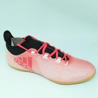 Sepatu futsal adidas original X Tango 17.3 Merah(bintik2)putih new