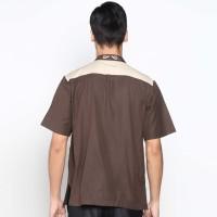 Batik Distro K8072 Kemeja Pria Koko Bordir - Coklat