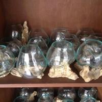 pengerajin aquarium unik akar kayu bali kecil