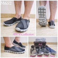 M652 SEPATU RAJUT/TIKAR/ANYAMAN SLIP ON PRIA ORIGINAL M&M COLLECTION