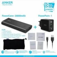 Anker Powerbank PowerCore+ 26800 And PowerPort+ 1 Black  B1374L11