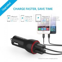 ANKER CAR CHARGER POWERDRIVE 2 & 3FT MICRO USB HITAM - B2310H11