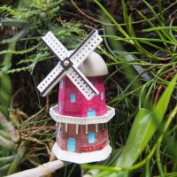 Miniatur Kincir Holland resin Souvenir negara Belanda / Netherland