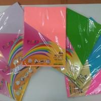 Multi-colored paper/kertas warna A4 80gsm 210x297mm- 25 lembar per pak