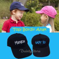 Topi Bordir Custom Nama Anak TK Balita - DEPAN