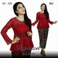 Baju stelan kebaya brokat rok batik pesta seragam pagar ayu terbaru