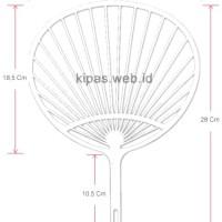 Gagang Kipas Jari - Jari - Kerang - Kipas Jepang - Uchiwa - Polos