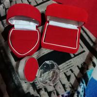 kotak cincin couple bludru love/box
