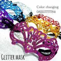 Topeng mask glitter perlengkapan pesta halloween party unik blink blin