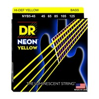 Senar Bass DR Strings, K3 Neon Hi-Def Yellow Bass, NYB5-45 (45-125)