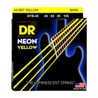Senar Bass DR Strings, K3 Neon Hi-Def Yellow Bass, NYB-45 (45-105)