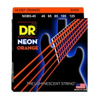 Senar Bass DR Strings, K3 Neon Hi-Def Orange Bass, NOB5-45 (45-125)