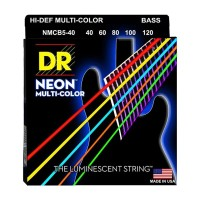 Senar Bass DR Strings, K3 Neon Hi-Def Multi-Color Bass, NMCB5-40