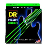 Senar Bass DR Strings, K3 Neon Hi-Def Green Bass, NGB-40 (40-100)