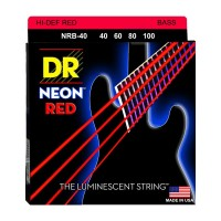 NRB-40-(40-100) DR Strings, K3 Neon Hi-Def Red Bass, NRB-40 (40-100)