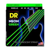 Senar Bass DR Strings, K3 Neon Hi-Def Green Bass, NGB5-45 (45-125)